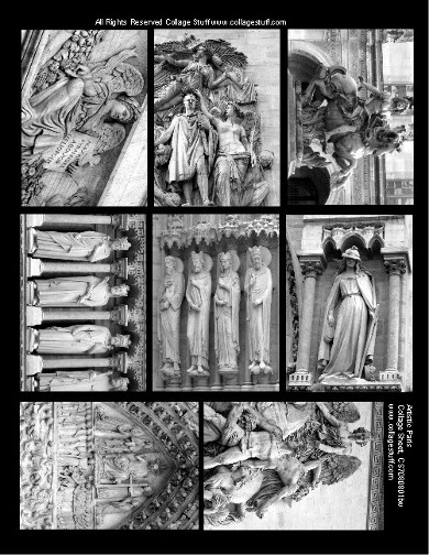 Artistic Paris BW Collage Sheet CS070803